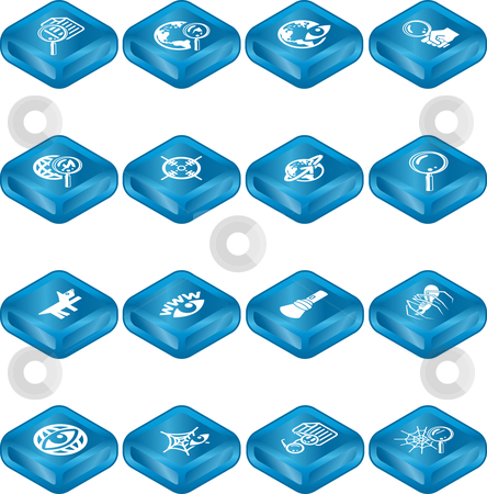 Web Search Icon Series Set stock vector clipart, Web Search Icons Series Set. A series of web search icons set. by Christos Georghiou