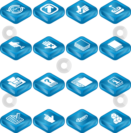 Applications Icon Series Set stock vector clipart, An icon series set for computer applications. by Christos Georghiou