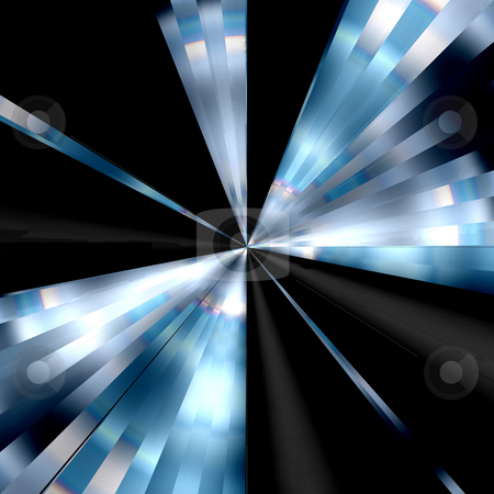Black & Blue Vortex Background stock photo, It's a cool, high-tech backgrond. by Todd Arena