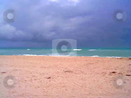 Stormy Miami Beach stock photo, A big storm is coming in fast, on Miami's South Beach. by Todd Arena