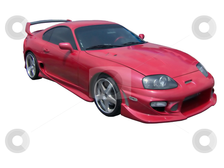 Red Hot Toyota Supra stock photo, An insanely hot supra. by Todd Arena