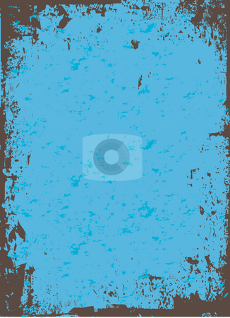 Blue Grunge stock photo, A worn looking grunge background in a blue tone. by Todd Arena