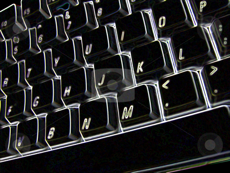 Solarized keyboard stock photo, Solarized keyboard. by Todd Arena
