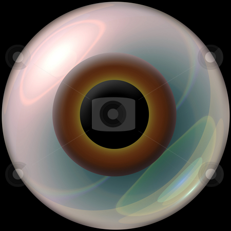 3d eyeball stock photo, A brown 3d eyeball. by Todd Arena