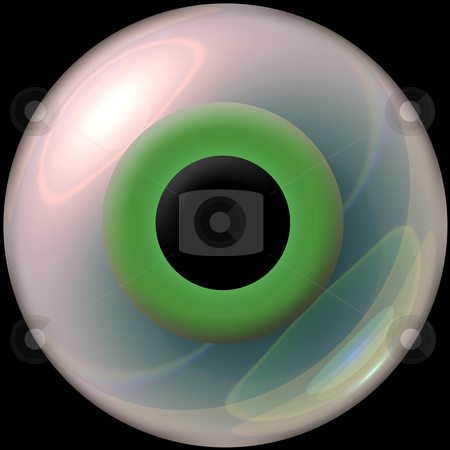 3d eyeball stock photo, A nice green 3d eye. by Todd Arena