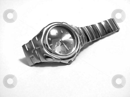 Painted Watch stock photo, A watch with a paintbrush filter effect. by Todd Arena