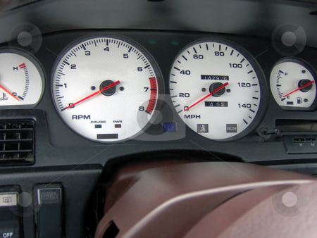 Cockpit stock photo, This is the custom indiglo gauge cluster in my mk3 Toyota Supra. by Todd Arena