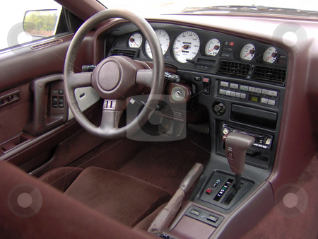 Sports Car Cockpit stock photo, The interior of a late model sports car. by Todd Arena