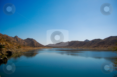 Fateh Sagar Lake  stock photo, The Fateh Sagar Lake is situated in Udaipur city in the Indian state of Rajasthan.  It said to be pride of the City of Lakes Udaipur by Piero Biondo