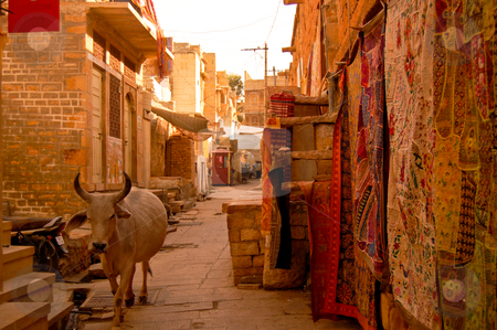 Travelfotografie stock photo, Walking around Jaisalmir is like walking back in the middle ages... by Piero Biondo
