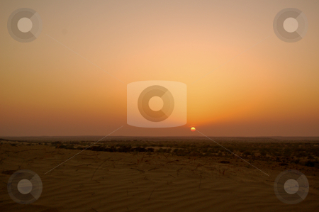 The desert of rajastan stock photo, The arid landscape of the Thar desert in the indian state of Rajasthan... by Piero Biondo