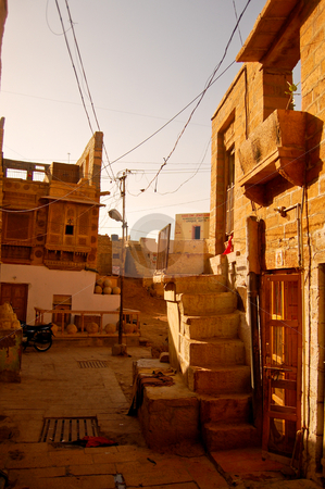 Corner in jaisalmir stock photo, Walking around Jaisalmir is like walking back in the middle ages... by Piero Biondo