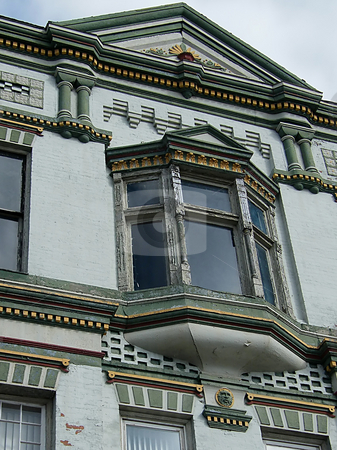 Built Around Early 1900's stock photo, Building Built Around Early 1900's. Very Unusual, Highly Decorated with Ornate Trim etc. Building is on corner of Front and Main in Toledo Ohio. by Dazz Lee Photography