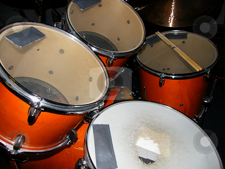 A Drummer's Drum Kit stock photo, A Drummer's Drum Kit by Dazz Lee Photography