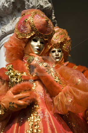 The masks of venice stock photo, Beautiful masks at the carnival of Venice 2009, Italy by Zoltan Kiraly
