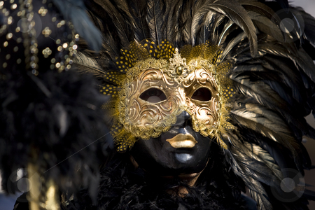 The masks of Venice stock photo, Professional masks I've seen during the carnival held in Venice in Italy, February 2009. by Zoltan Kiraly