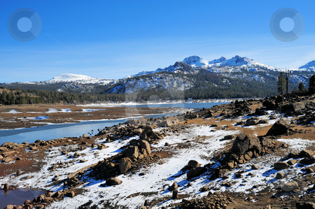 Mountain Lake In Late Autumn stock photo, Caples Lake in the California Sierra Nevada mountians by Lynn Bendickson