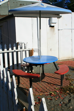 Patio Table Set stock photo,  by Michael Felix
