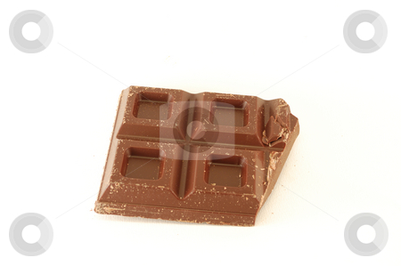 Chocolate  stock photo, Chocolate in bars over a white background. by ALESSANDRO TERMIGNONE