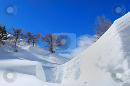 Winter in Italian alps stock photo, Winter landscape of Italian alps (Alpe devero Natural Park) by ALESSANDRO TERMIGNONE
