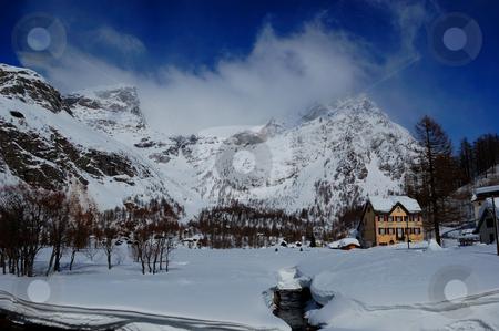 Mountain scenery stock photo, Mountain scenery by ALESSANDRO TERMIGNONE