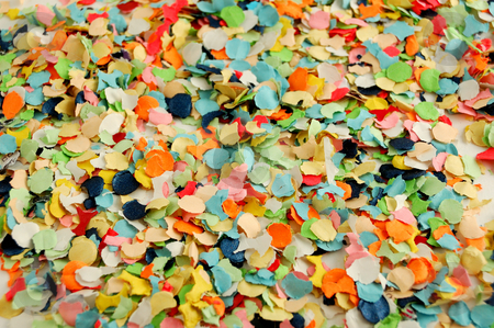 Confetti stock photo, Texture of round paper colorful confetti by ALESSANDRO TERMIGNONE