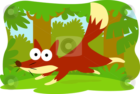 Cartoon fox stock vector clipart, Collection cartoon animal by Larintorn Promin