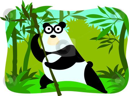 Cartoon panda stock vector clipart, Collection cartoon animal by Larintorn Promin