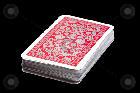 Playing cards stock photo, The back of playing cards by Ingvar Bjork