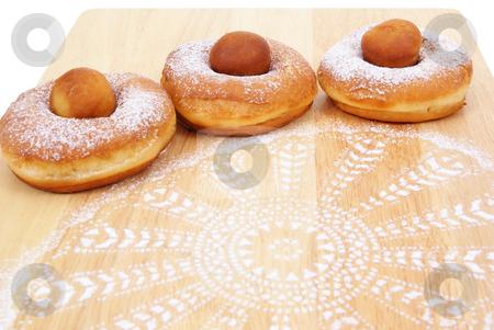 Doughnut stock photo, Fresh and warm doughnuts isolated on white background by Jolanta Dabrowska