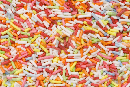 Sugar Decoration stock photo, A close-up of a lot of colourful sugar decoration by Petr Koudelka