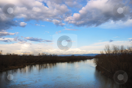 Velika Morava river stock photo, View on a Veliak Morava river in Serbia. by Ivan Paunovic