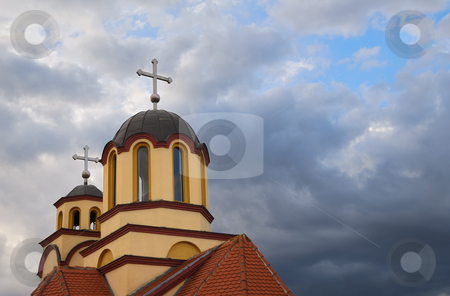 Orthodox Church stock photo, Orthodox church with sky in background. by Ivan Paunovic