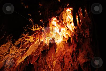 Stalagmites in stone cave stock photo, Stalagmites in stone cave Resavska in Serbia by Julija Sapic