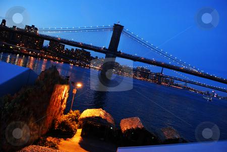 Brooklyn Bridge stock photo, Fragment of Brooklyn Bridge in New York by Julija Sapic