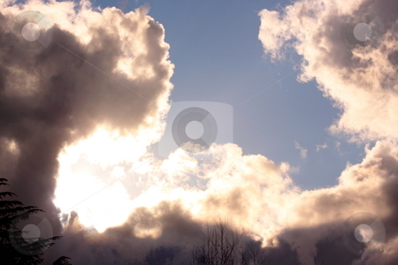 Clouds of March stock photo, Close up of Clouds in a March afternoon sky by Richard Clack