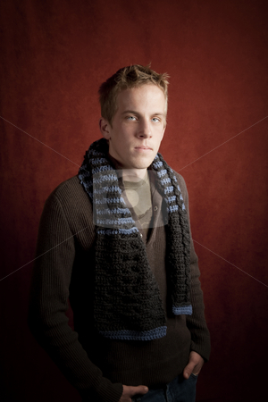 Portrait of handsome young man stock photo, Portrait of a handsome young blonde man by Scott Griessel