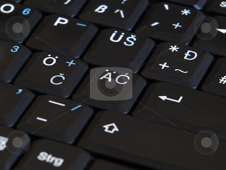 Croatian keypad stock photo, Closeup of the Croatian letters on the computer keypad. by Sinisa Botas