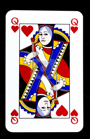 Queen of Hearts stock photo, Queen of Hearts playing card by Ingvar Bjork