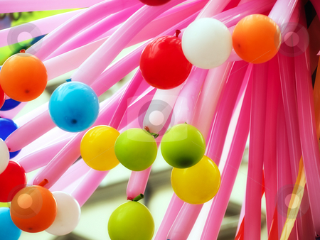 Balloons stock photo, A bunch of different colorful balloons by Sinisa Botas
