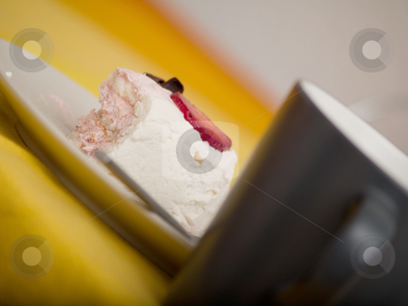 Cup of coffee and cake - candid stock photo, Cup of coffee and cake -  candid by Phillip Dyhr Hobbs