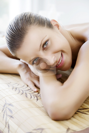 Well being stock photo, Female enjoying some type of wellness treatment by Liv Friis-Larsen