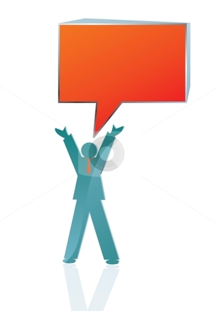 Speaking to the masses stock vector clipart, Conceptual Business icon of man speaking to the masses, vector illustration by Milsi Art