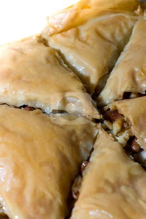 Baklava Closeup stock photo, Closeup of some Baklava, a greek dessert. by Kevin Woodrow