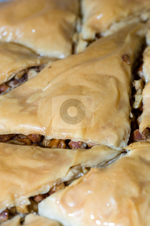 Baklava Closeup stock photo, Closeup of some Baklava, a greek dessert. by Kevin Woodrow