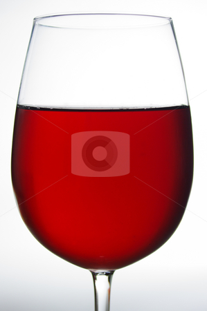 Red wine stock photo, Closeup of a glass of red wine by Martin Darley