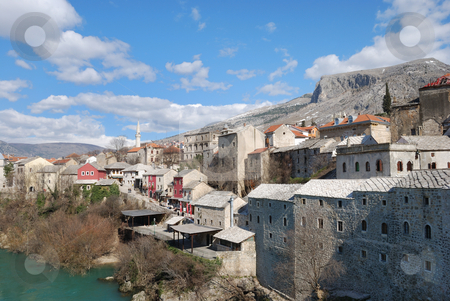 Mostar Old Town stock photo, Mostar Old Town on a sunny winter day. by Denis Radovanovic