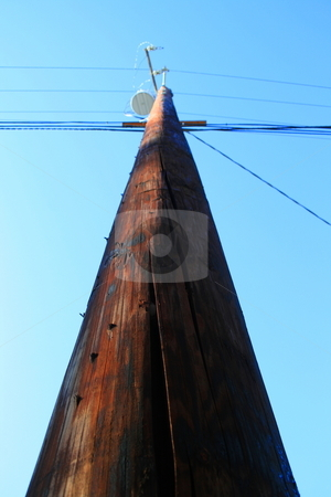 Telephone Pole  stock photo,  by Michael Felix