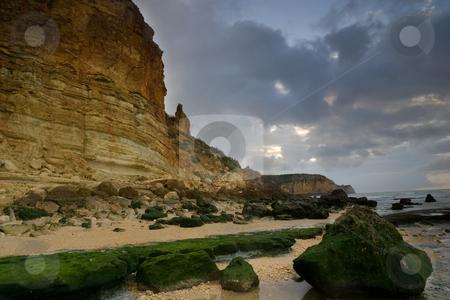 Portugal Beach Series stock photo, Along the beach of