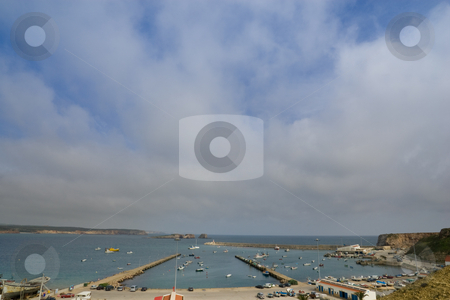 Overlooking Sagres Marina stock photo, A wideangle view of the marina at Sagres, in the Algarve, Portugal. by Kevin Woodrow